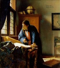 """De Geograaf""- Johannes Vermeer (1632-1675)"