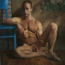 """""""Selfportrait With Blue Chair"""""""