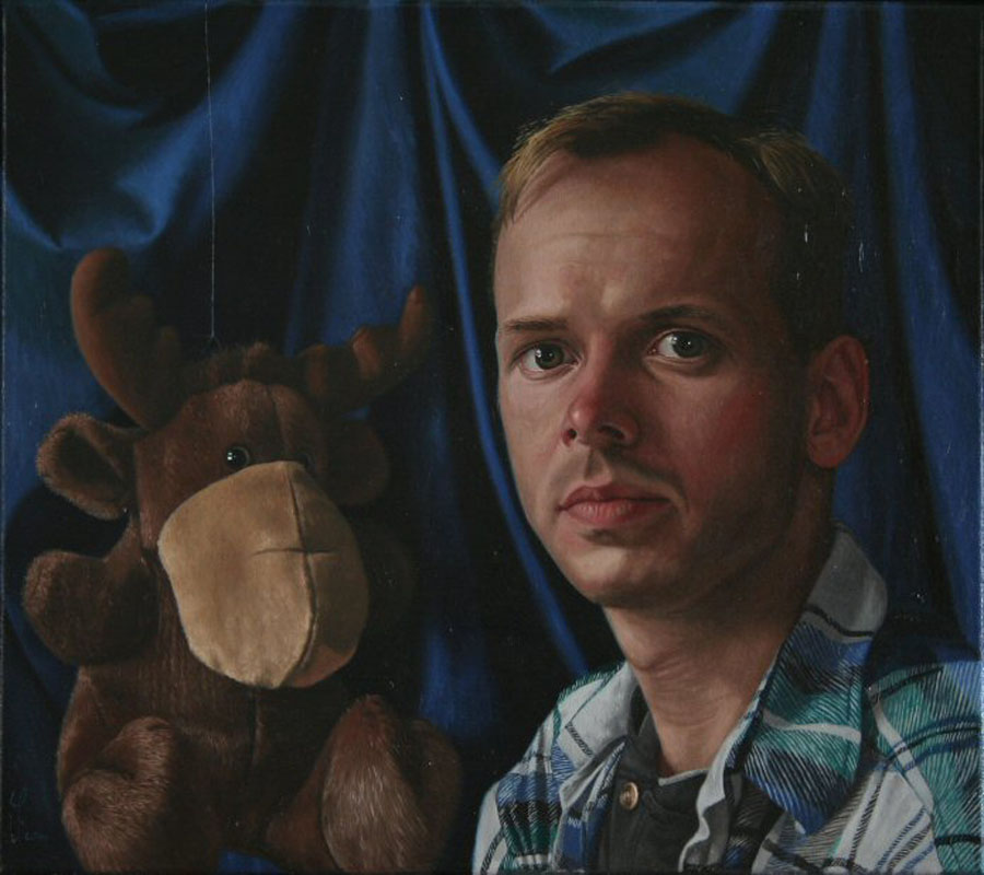 """The Artist and his Moose"""